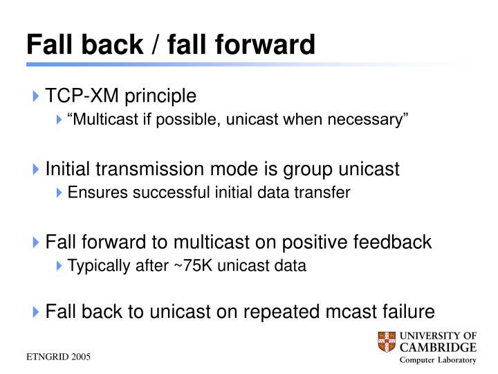Fall back / fall forward