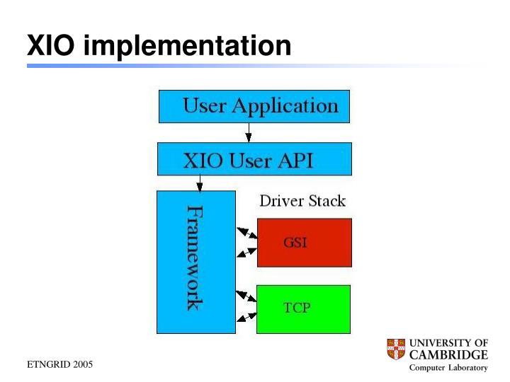 XIO implementation