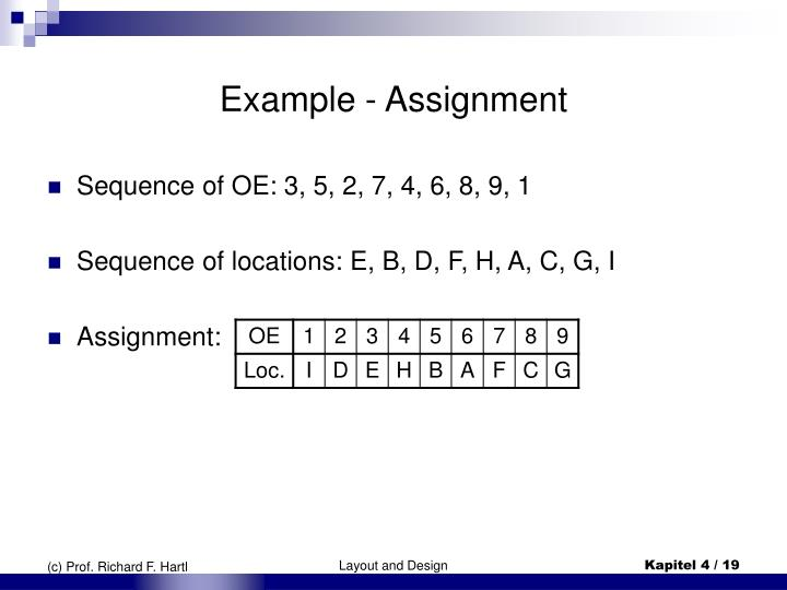 Example - Assignment