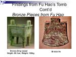 findings from fu hao s tomb cont d bronze pieces from fu hao
