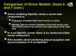 comparison of driver models goals 6 and 7 cont