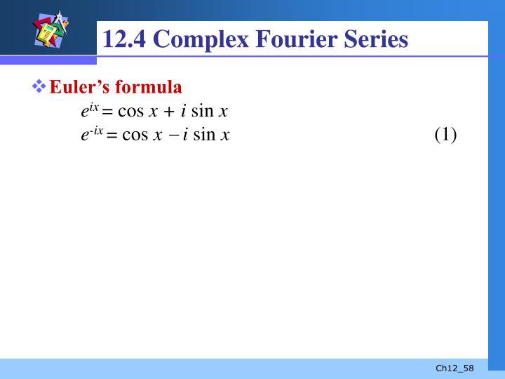 12.4 Complex Fourier Series