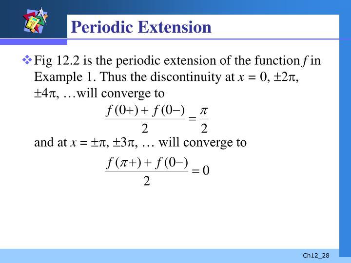 Periodic Extension