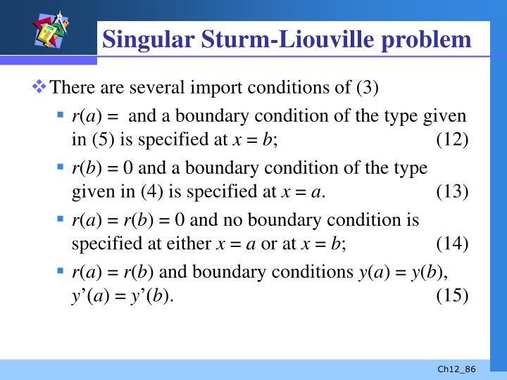 Singular Sturm-Liouville problem