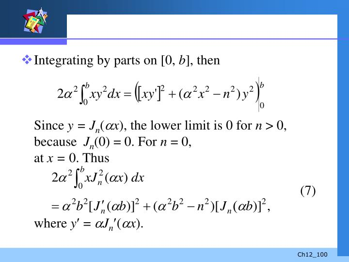 Integrating by parts on [0,