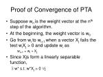 proof of convergence of pta1