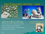 non evaporable getters uses