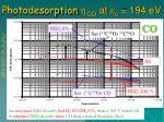 photodesorption h co at c 194 ev