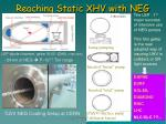 reaching static xhv with neg
