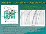 xhv limit outgassing vapor pressure
