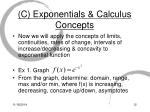 c exponentials calculus concepts