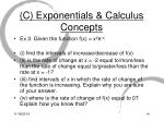 c exponentials calculus concepts2