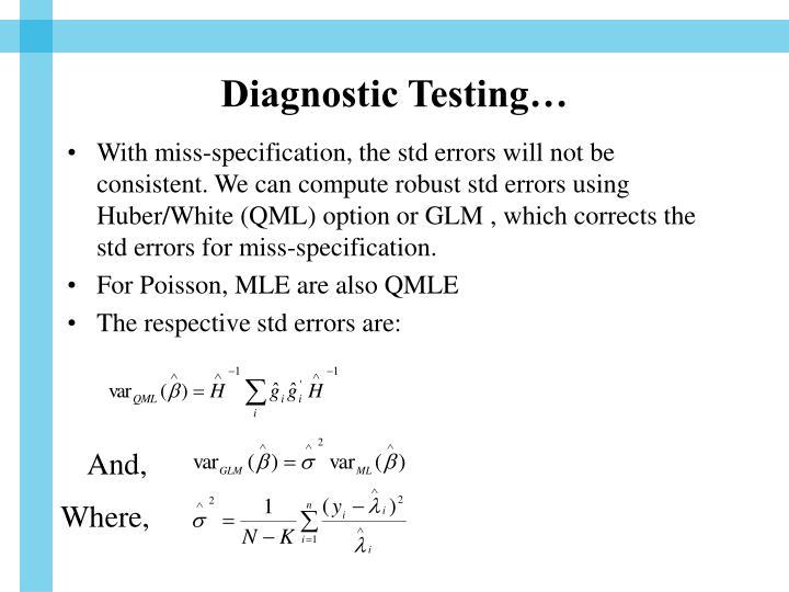Diagnostic Testing…