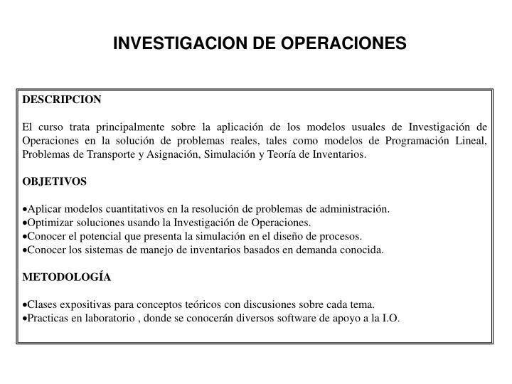Investigacion de operaciones1