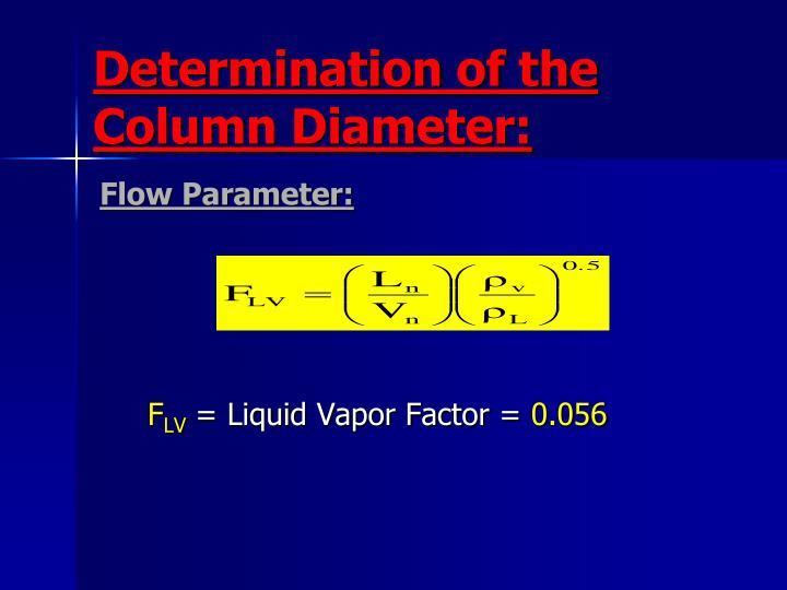 Determination of the Column Diameter:
