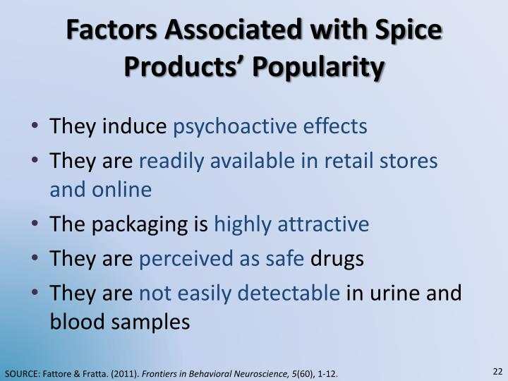 Factors Associated with Spice Products' Popularity