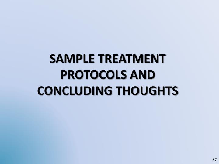 sample Treatment protocols and