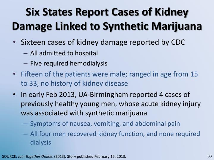 Six States Report Cases of Kidney