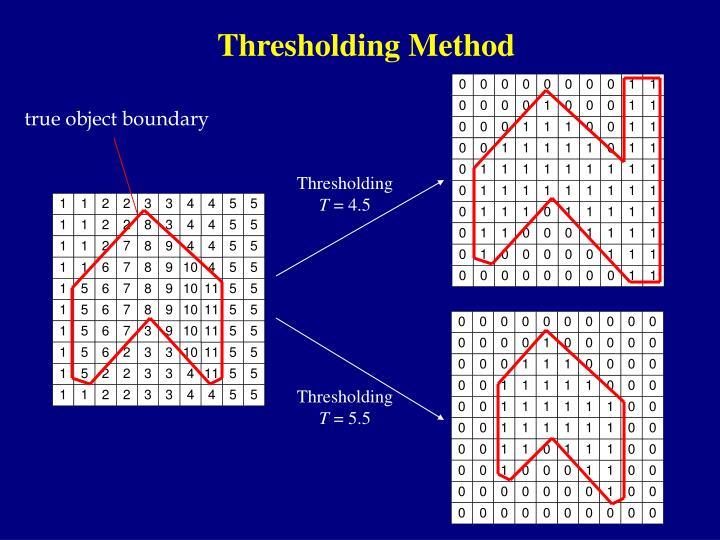 Thresholding Method