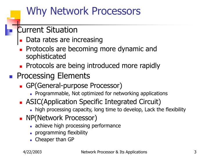 Why network processors