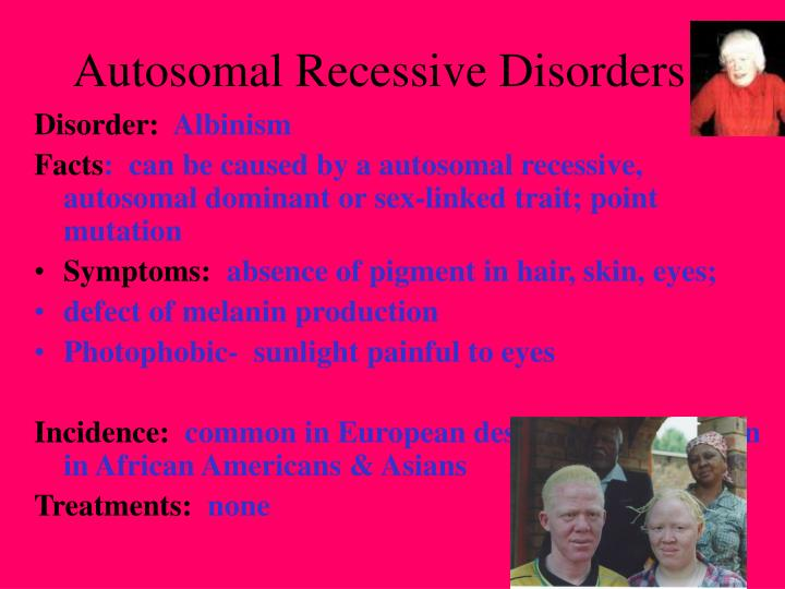 Which of these is a sex-linked recessive disorder galleries 59