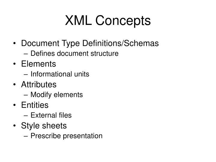 XML Concepts
