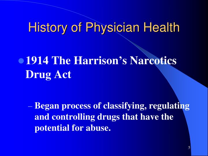 History of Physician Health
