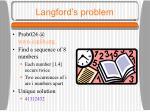 langford s problem