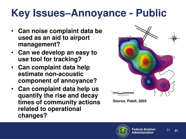 Key Issues–Annoyance - Public