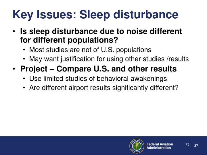 Is sleep disturbance due to noise different for different populations?