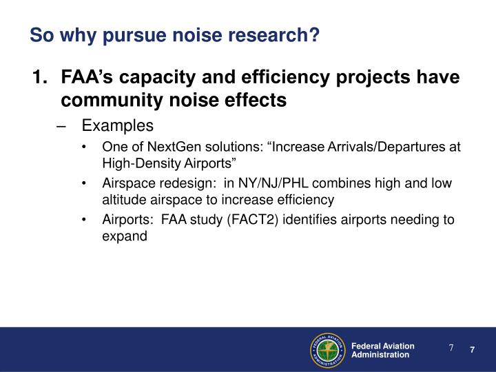 FAA's capacity and efficiency projects have community noise effects