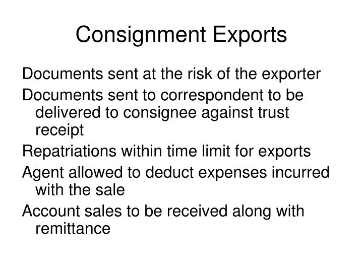 Consignment Exports