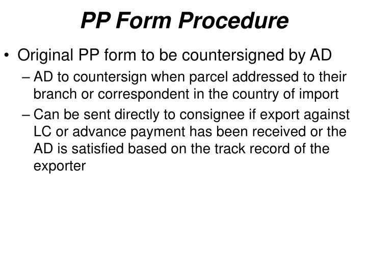 PP Form Procedure