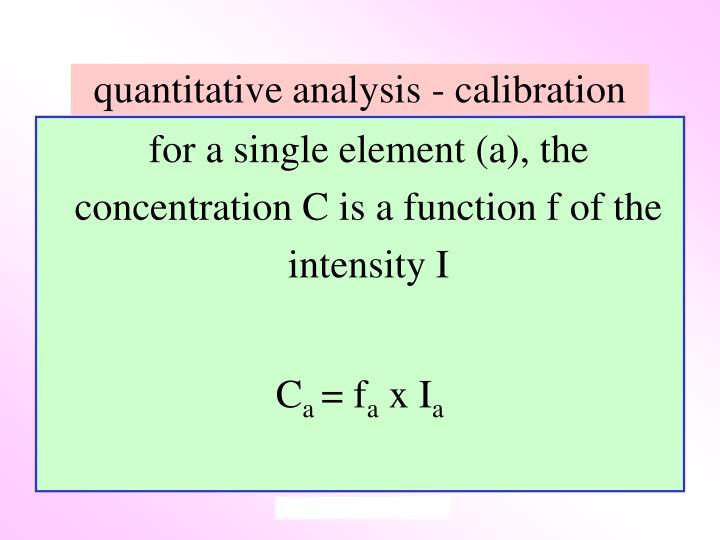 quantitative analysis - calibration