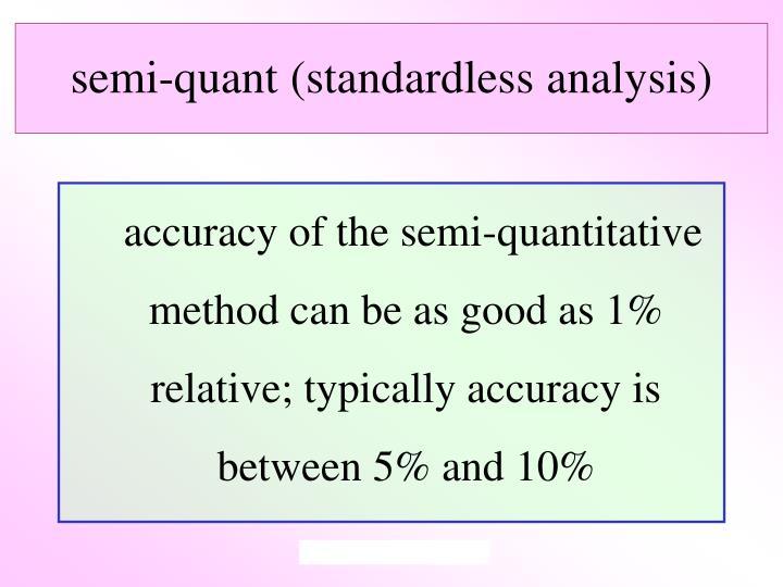 semi-quant (standardless analysis)