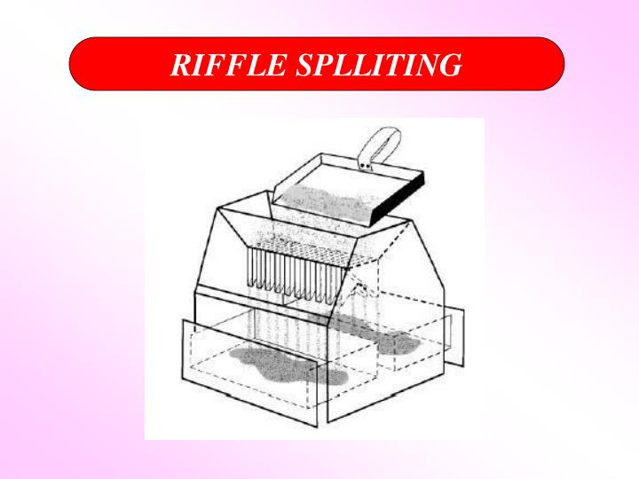 RIFFLE SPLLITING