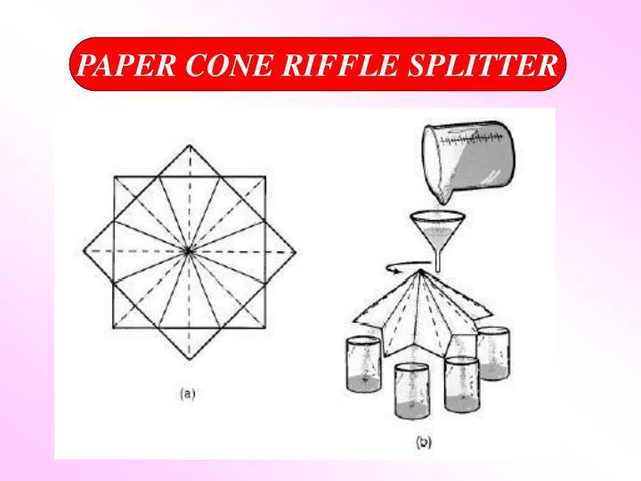 PAPER CONE RIFFLE SPLITTER