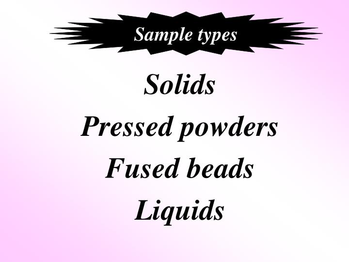 Sample types