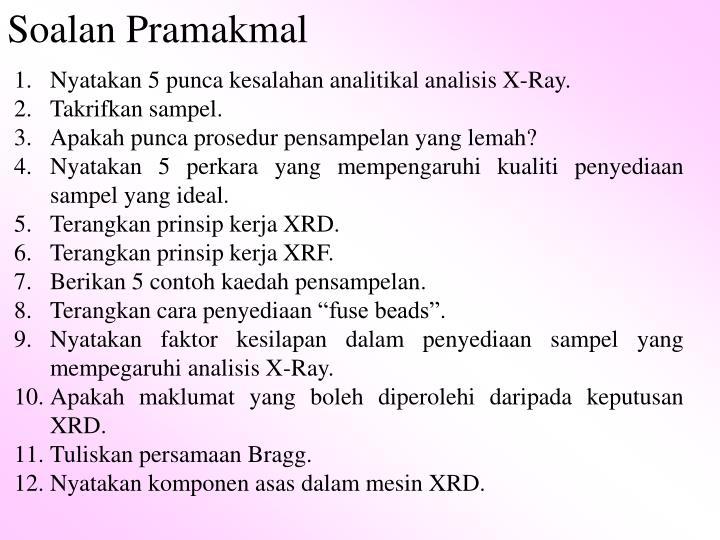 Soalan Pramakmal