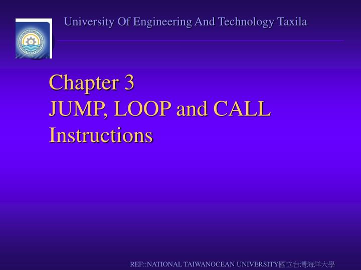 chapter 3 jump loop and call instructions n.