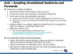 a10 avoiding unvalidated redirects and forwards