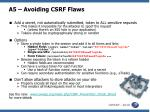 a5 avoiding csrf flaws