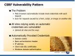 csrf vulnerability pattern