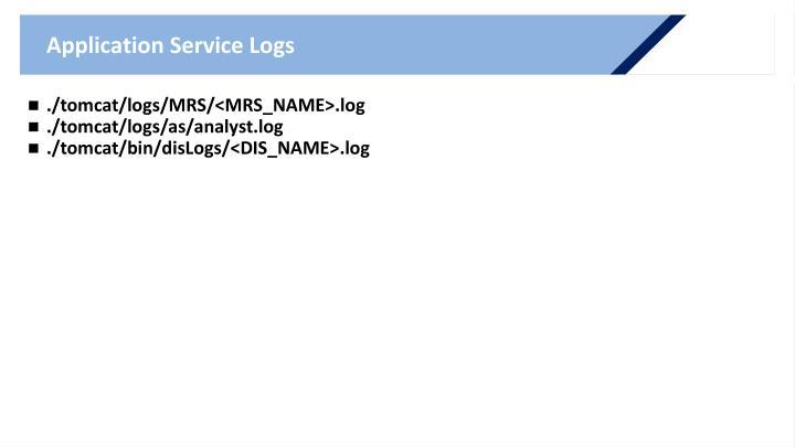Application Service Logs