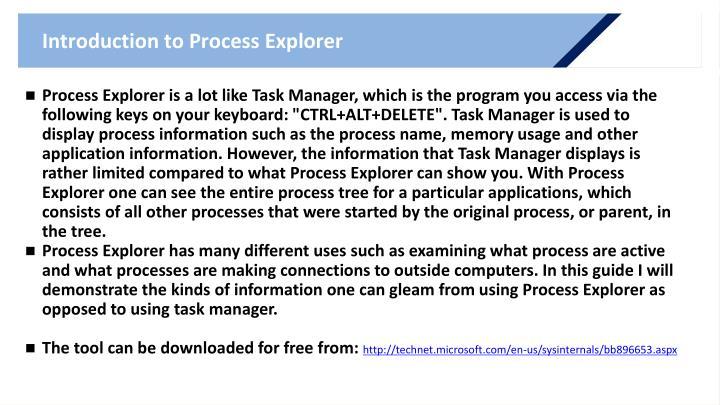 Introduction to Process Explorer