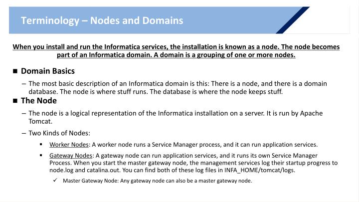 Terminology – Nodes and Domains