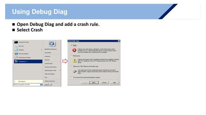 Using Debug Diag