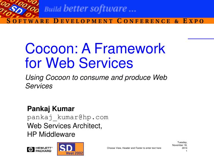 PPT - Cocoon: A Framework for Web Services PowerPoint
