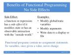 benefits of functional programming no side effects