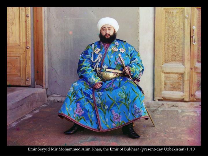 Emir Seyyid Mir Mohammed Alim Khan, the Emir of Bukhara (present-day Uzbekistan) 1910